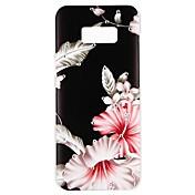 Etui Til Samsung Galaxy S8 S7 Rhinstein Mønster Inngravert Bakdeksel Blomsternål i krystall Fjær Hard PC til S8 Plus S8 S7 edge S7 S6