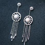 Mujer Pendientes cortos / Pendients de aro - Brillante, Plateado Plata Para Boda / Fiesta