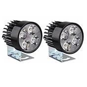 sencart universal 4 llevó la luz del punto de la motocicleta dc10-80v1000lm 6500k lámpara de la linterna para las bicicletas los coches de