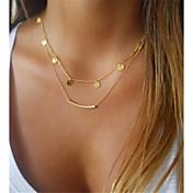 Dame Sirkelformet Form metallic Klassisk Hypoallergenisk lagdelte Hals , Legering lagdelte Hals Gave Daglig Kostyme smykker