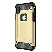 Funda Para Apple iPhone X iPhone 8 Plus Antigolpes Funda Trasera Armadura Dura Metal para iPhone X iPhone 8 Plus iPhone 8 iPhone 7 Plus
