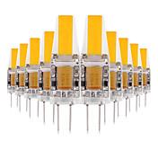 YWXLIGHT® 10pcs 3W 200-300 lm G4 LED-lamper med G-sokkel 2 leds COB Dekorativ LED Lys Varm hvit Kjølig hvit Naturlig hvit AC 12V DC 12-24V