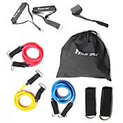 KYLINSPORT Juego de cuerdas de resistencia Con Maletín / Tira de tobillo / Ancla de la puerta 9 pcs Caucho Entrenamiento de fuerza, Pull Up, Terapia física por Yoga / Pilates / Ejercicio y Fitness