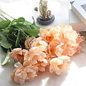 Kunstige blomster 1 Gren Europeisk Stil Poppy Bordblomst