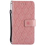 Etui Til LG K8 LG LG K10 LG K7 V20 K10 (2017) Kortholder Lommebok med stativ Flipp Inngravert Heldekkende etui Blomsternål i krystall Hard