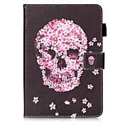 Etui Til Samsung Galaxy Tab S2 9.7 Kortholder Lommebok med stativ Mønster Auto Sove / Våkne Heldekkende etui Hodeskaller Hard PU Leather