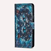 Funda Para Samsung Galaxy S9 S9 Plus Soporte de Coche Cartera con Soporte Flip Magnética Funda de Cuerpo Entero Gato Dura Cuero de PU para