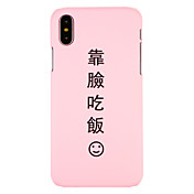 Funda Para Apple iPhone X iPhone 8 Diseños Funda Trasera Palabra / Frase Dura ordenador personal para iPhone X iPhone 8 Plus iPhone 8