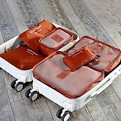 6 juegos Bolsa de Viaje Organizador para viaje Cubos de Almacenaje Impermeable A prueba de polvo Plegable Duradero Almacenamiento para