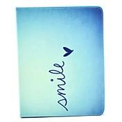 Etui Til Apple iPad Air 2 iPad Air iPad 4/3/2 med stativ Flipp Mønster Auto Sove/Våkne Heldekkende etui Ord / setning Hard PU Leather til