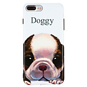 Funda Para Apple iPhone X iPhone 8 IMD Diseños Funda Trasera Perro Suave TPU para iPhone X iPhone 8 Plus iPhone 8 iPhone 7 Plus iPhone 7