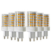 YWXLIGHT® 6pcs 10W 900-1000lm G9 Luces LED de Doble Pin T 86 Cuentas LED SMD 2835 Regulable Blanco Cálido Blanco Fresco Blanco Natural
