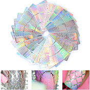 24pcs Klistremerker & Tape Nail Stamping Template Nail Art Tips Fritid / hverdag Professjonell Nail Decals Kunstnerisk