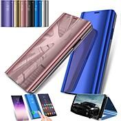 Etui Til Samsung Galaxy S9 S9 Plus med stativ Speil Heldekkende etui Helfarge Hard PC til S9 Plus S9 S8 Plus S8 S7 edge S7 S6 edge S6
