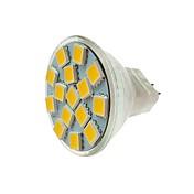SENCART 1pc 5W 260lm MR11 LED-spotpærer MR11 15 LED perler SMD 5060 Dekorativ Varm hvit / Kjølig hvit 12V