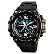 SKMEI Hombre Digital Reloj digital Reloj de Moda Reloj Deportivo Chino Calendario Cronógrafo Resistente al Agua Noctilucente Cronómetro PU