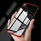 Funda Para Apple iPhone X / iPhone 8 / iPhone XS Cromado / Ultrafina / Cuerpo transparente Funda Trasera Un Color Suave TPU para iPhone XS / iPhone XR / iPhone XS Max