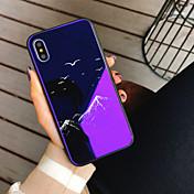 Etui Til Apple iPhone X iPhone 8 Støtsikker Mønster Bakdeksel Landskap Tegneserie Hard Herdet glass til iPhone X iPhone 8 Plus iPhone 8
