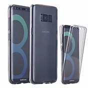 Etui Til Samsung Galaxy S8 Plus S8 Ultratynn Gjennomsiktig Heldekkende etui Helfarge Myk TPU til S8 Plus S8 S7 edge S7 S6 edge S6 S5