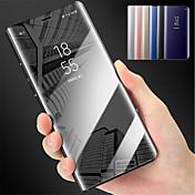 Etui Til Samsung Galaxy Note 8 Note 5 med stativ Speil Heldekkende etui Ensfarget Hard PC til Note 8 Note 5