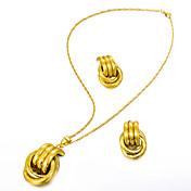 Mujer Conjunto de joyas 1 Collar / Pendientes - Importante / Moda Irregular Dorado Juego de Joyas / Pendientes colgantes / Collares con
