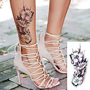 Klistremerke / Tattoo-klistremerke arm midlertidige Tatoveringer 5 pcs Blomster Serier / Romantisk serie kropps~~POS=TRUNC