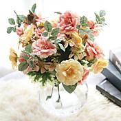 Kunstige blomster 1 Gren Enkel Stil / Bryllupsblomster Roser / Evige blomster Bordblomst