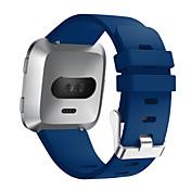 Ver Banda para Fitbit Versa Fitbit Hebilla Moderna Silicona Correa de Muñeca