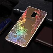 Funda Para Samsung Galaxy A8 2018 / A8 Plus 2018 Cromado / Diseños Funda Trasera Impresión de encaje Suave TPU para A3 (2017) / A5 (2017)
