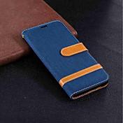 Etui Til Samsung Galaxy A6+ (2018) / A6 (2018) Lommebok / Kortholder / med stativ Heldekkende etui Ensfarget Hard tekstil til A6 (2018) / A6+ (2018) / A5 (2017)