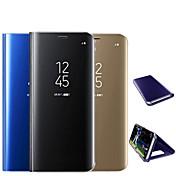 Etui Til Samsung Galaxy Note 9 / Note 8 Belegg / Speil / Flipp Heldekkende etui Ensfarget Hard PC til Note 9 / Note 8 / Note 5