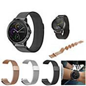 Klokkerem til vivomove / vivomove HR / Vivoactive 3 Garmin Sportsrem / Milanesisk rem Rustfritt stål Håndleddsrem