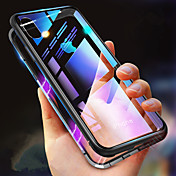 Etui Til Apple iPhone XR / iPhone XS Max Støtsikker / Gjennomsiktig / Magnetisk Heldekkende etui Ensfarget Hard Herdet glass til iPhone XS / iPhone XR / iPhone XS Max