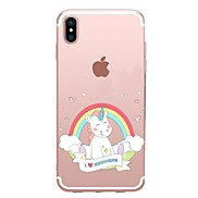 For Case Cover Transparent Pattern Back Cover Case Unicorn Soft TPU for Apple iPhone X iPhone 8 Plus iPhone 8 iPhone 7 Plus iPhone 7
