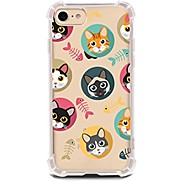For Case Cover Ultra-thin Transparent Pattern Back Cover Case Cat Soft TPU for Apple iPhone X iPhone 8 Plus iPhone 8 iPhone 7 Plus iPhone