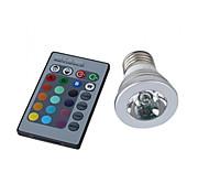 E26/E27 Spot LED MR16 1 LED Haute Puissance 150 lm RVB K Commandée à Distance AC 100-240 V