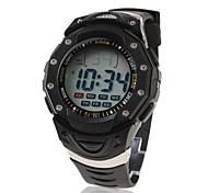 Waterproof Digital Multifunction EL Light Automatic Fashion Watch with Calendar & Alarm & Chronograph - Black Wrist Watch Cool Watch Unique Watch