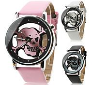 Жен. Модные часы Кварцевый PU Группа Череп Черный Белый Розовый