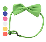 Dog Collar Adjustable / Retractable Bowknot Textile Dark Blue Yellow Red Green Pink