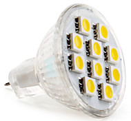 economico -2800 lm GU4(MR11) Faretti LED MR11 10 leds SMD 5050 Bianco caldo DC 12V
