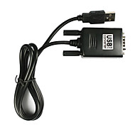 USB to RS232 Serial 9 Pin DB9 Cable Adapter for PC (5Ft)
