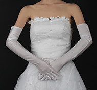 cheap -Satin Opera Length Glove Bridal Gloves Classical Feminine Style