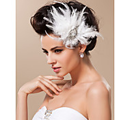 cheap -Tulle Fascinators Headwear with Floral 1pc Wedding Special Occasion Headpiece