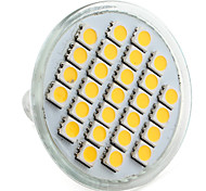 4w e14 gu10 gu5.3 (mr16) e26 / e27 spot à led mr16 27 smd 5050 200-250lm blanc chaud blanc naturel 2800k