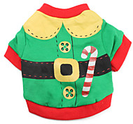 Cat / Dog Costume / Shirt / T-Shirt Green Dog Clothes Winter / Spring/Fall Color Block Cute / Cosplay