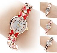 Damen Armband-Uhr Quartz Band Schmetterling Blume Schwarz Weiß Rot Braun Rosa Weiß Schwarz Braun Rot Rosa