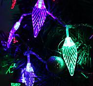 cheap -7M 30-LED Leaf-Shaped Colorful Light LED Strip Fairy Lamp for Festival Decoration (220V)