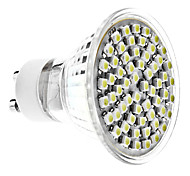 4W GU10 LED Spotlight MR16 60 LEDs SMD 3528 Natural White 6000lm 6000KK AC 220-240V
