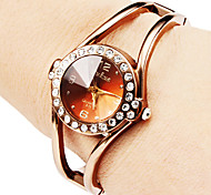 Women's Hollow Style Alloy Analog Quartz Bracelet Strap Watch (Bronze) Cool Watches Unique Watches Fashion Watch
