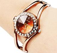 Недорогие -Жен. Модные часы Часы-браслет Кварцевый сплав Группа Блестящие Кольцеобразный Элегантные часы Бронза